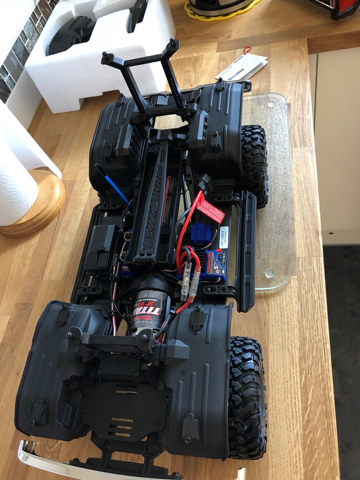 Traxxas Trx 4 Bronco crawler with upgrades in BN18 Arun for
