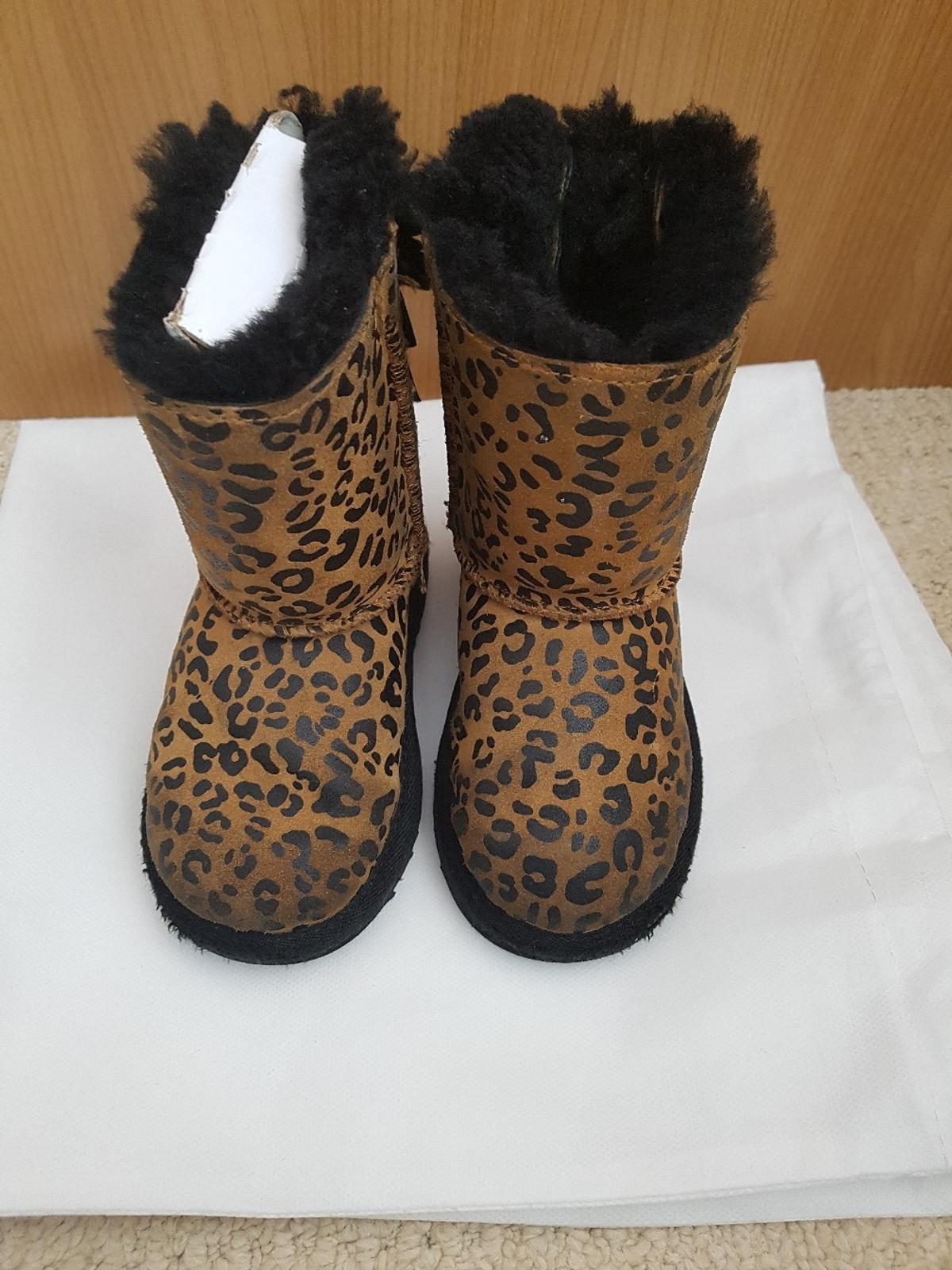 51b893f041e UGG Bailey bow leopard ankle boots in Worthing for £30.00 for sale ...
