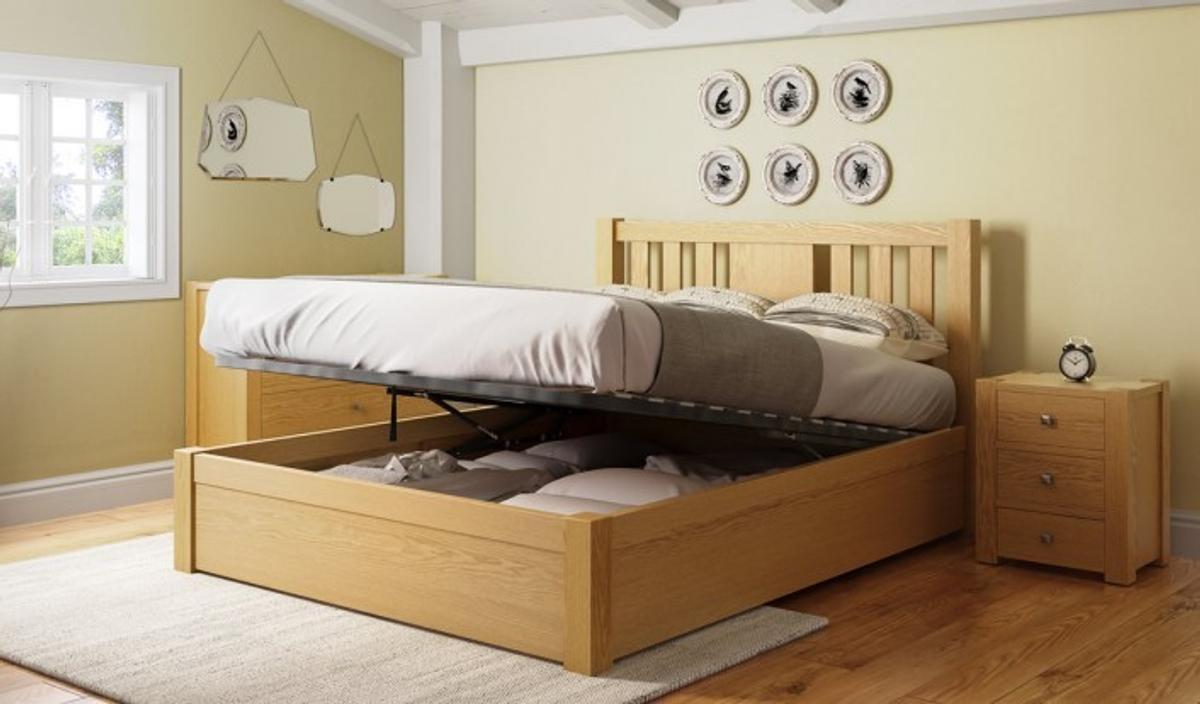 Prime New King Size Wooden Ottoman Bed Frame Oak In Ub8 Hillingdon Beatyapartments Chair Design Images Beatyapartmentscom