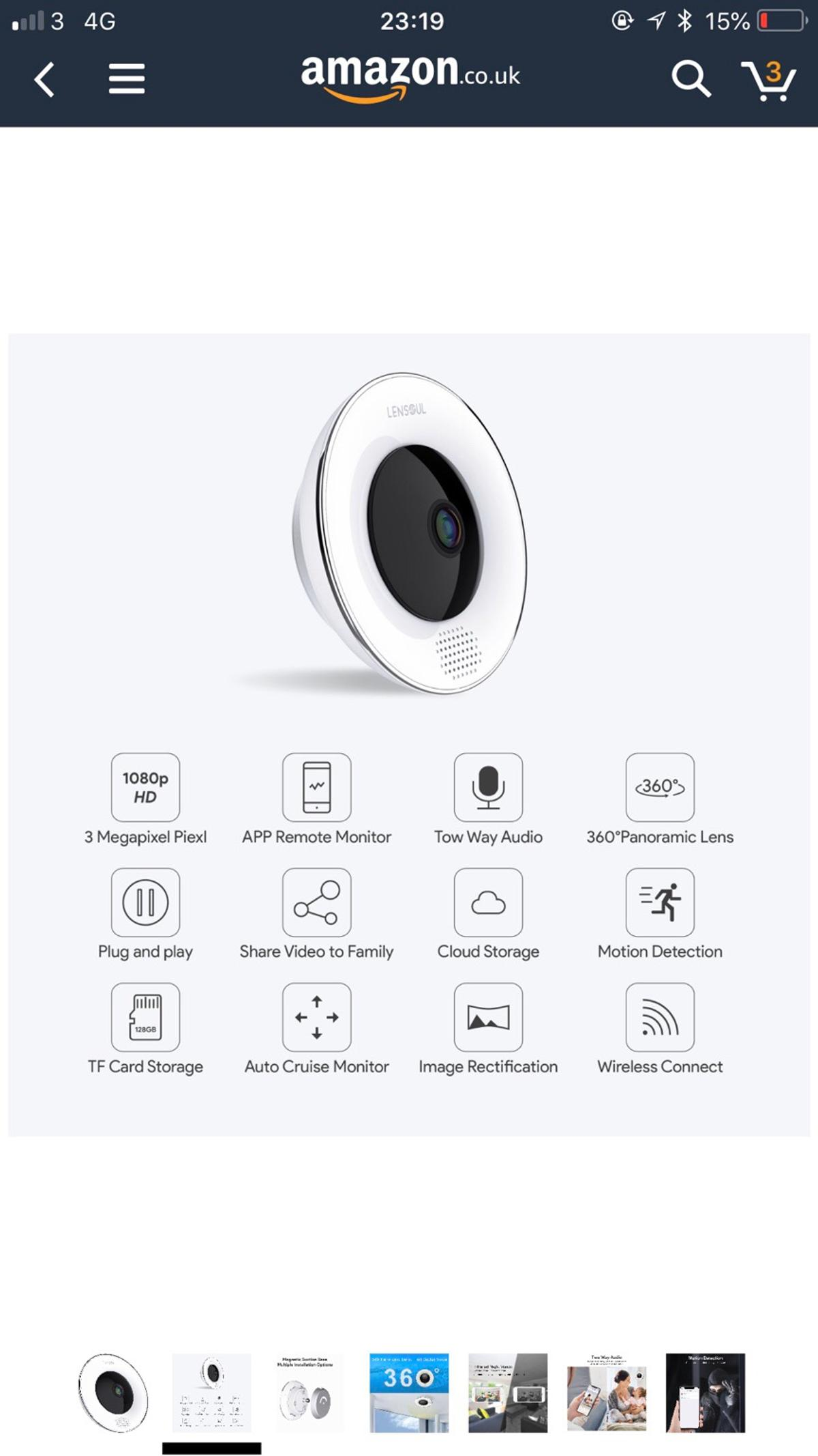 IP Camera, 360 Degree Security Camera 2 4Ghz in Oadby and