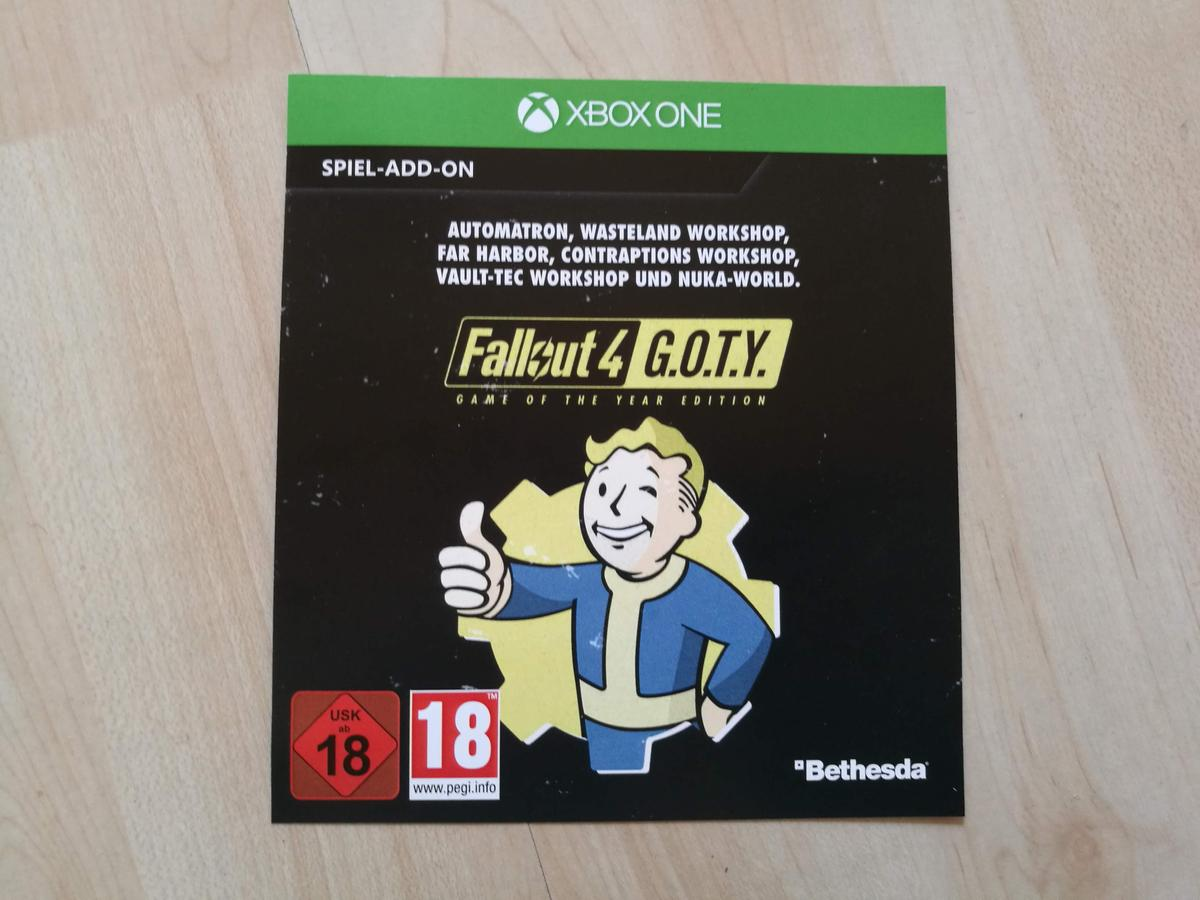 Fallout 4 GOTY Spiel-Add-Ons Xbox One
