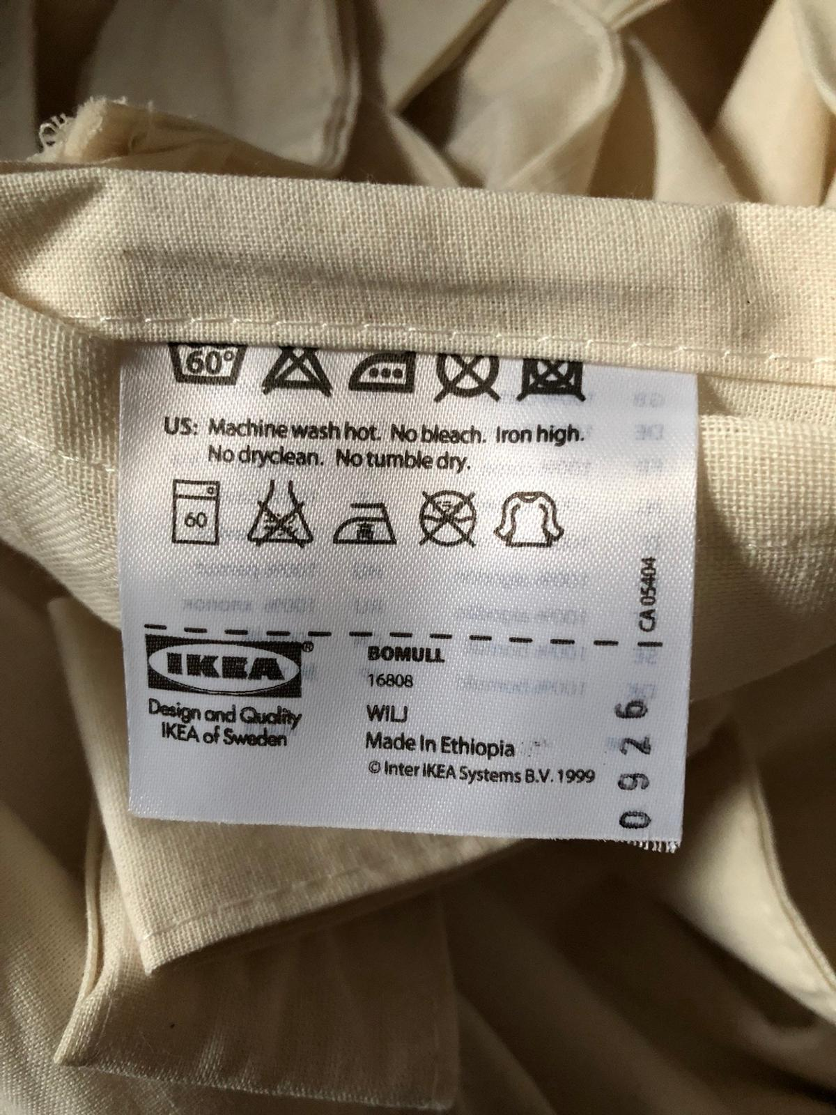 IKEA BOMULL Cream Tab Curtain in B12 Birmingham for £10 00 for sale