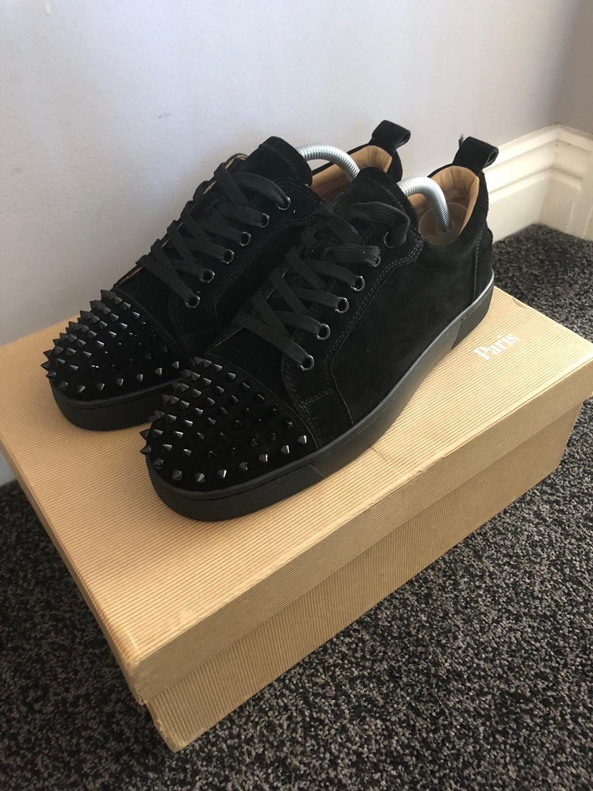 online store 7b675 c9163 Christian Louboutin Low Suede Spikes Black in EC2 City of ...