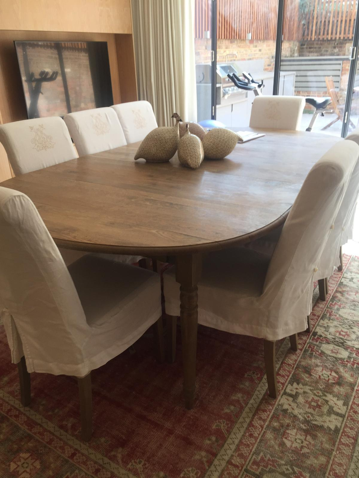 Excellent Oka Extending Dining Table With 8 Chairs In Sw1W Westminster Inzonedesignstudio Interior Chair Design Inzonedesignstudiocom