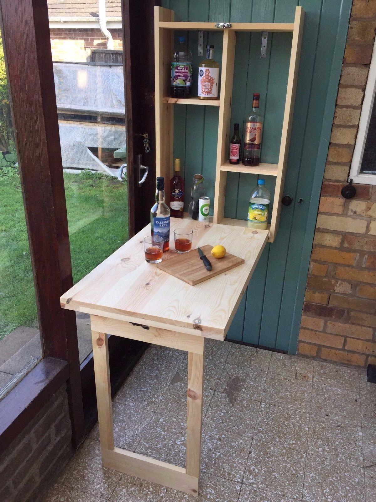 - Wall Mounted Fold Down Table / Murphy Bar £75 In NW9 London Für 75