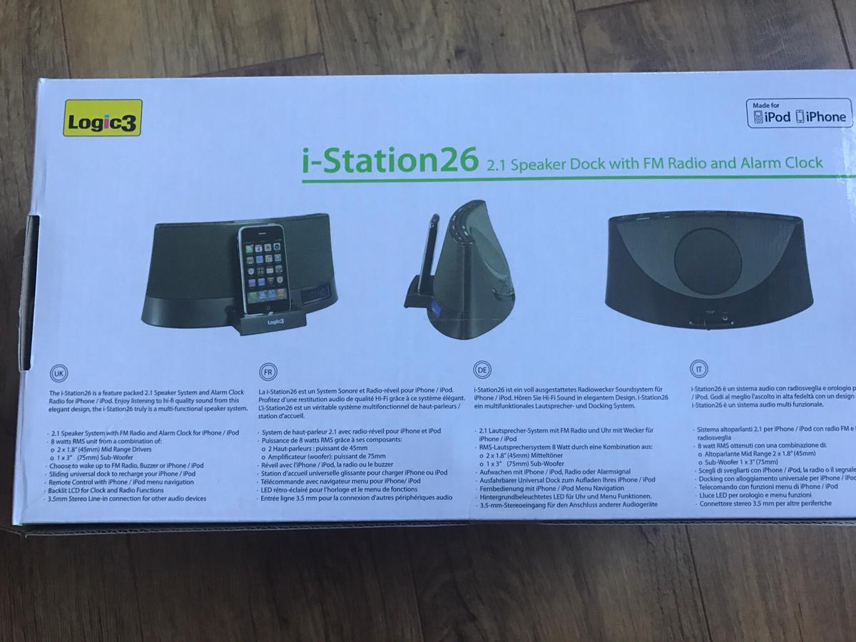 Logic3 i-Station 26 in G15 Blairdardie for £5 00 for sale