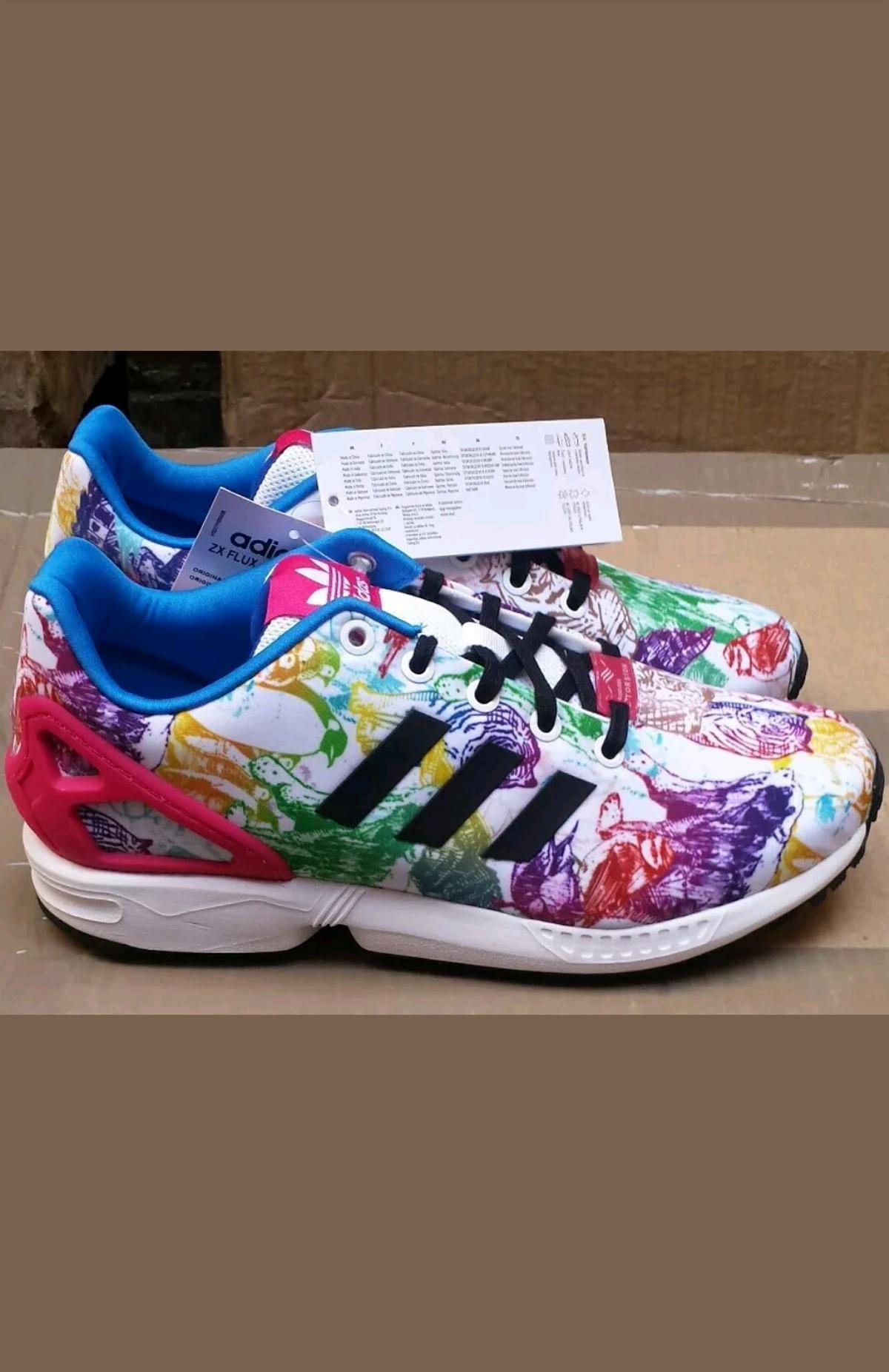 New Adidas ZX Flux Junior Boys Girls Kids Infant Trainers Various Sizes