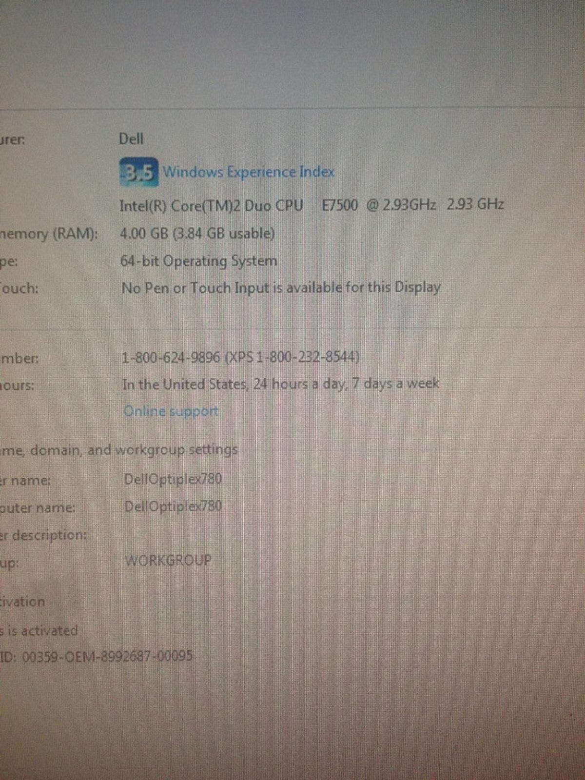 dell windows 7 pc in DH9 Kyo for £80 00 for sale - Shpock
