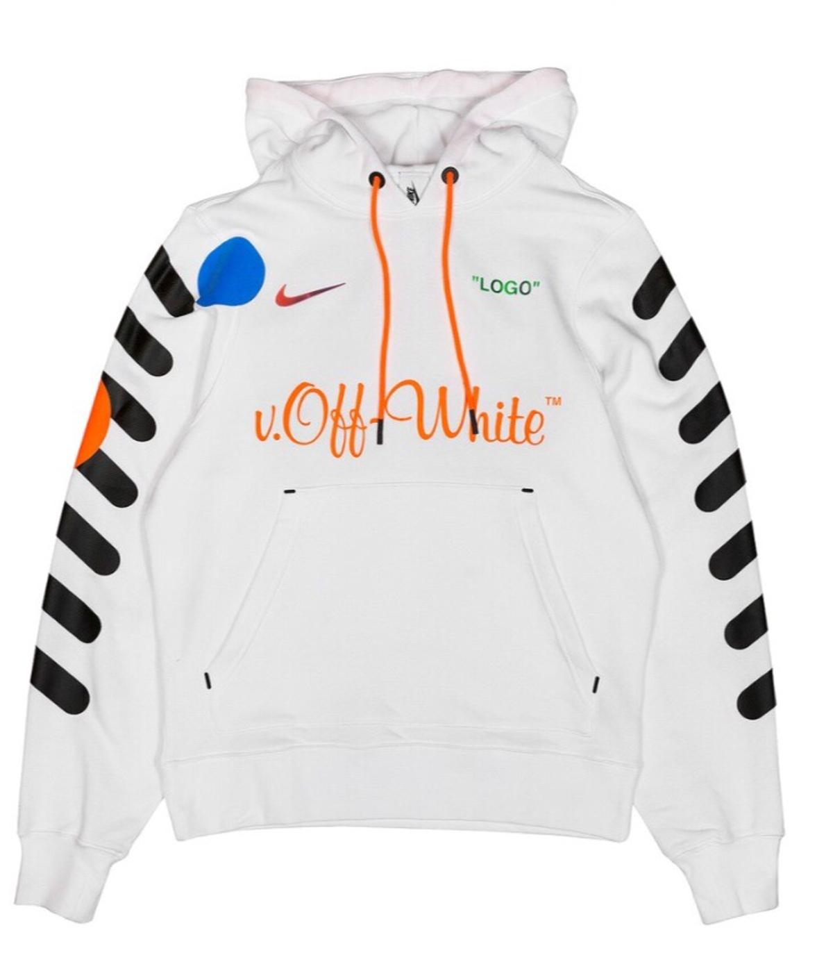 NIKE X OFF-WHITE HOODIE SIZE AMALL