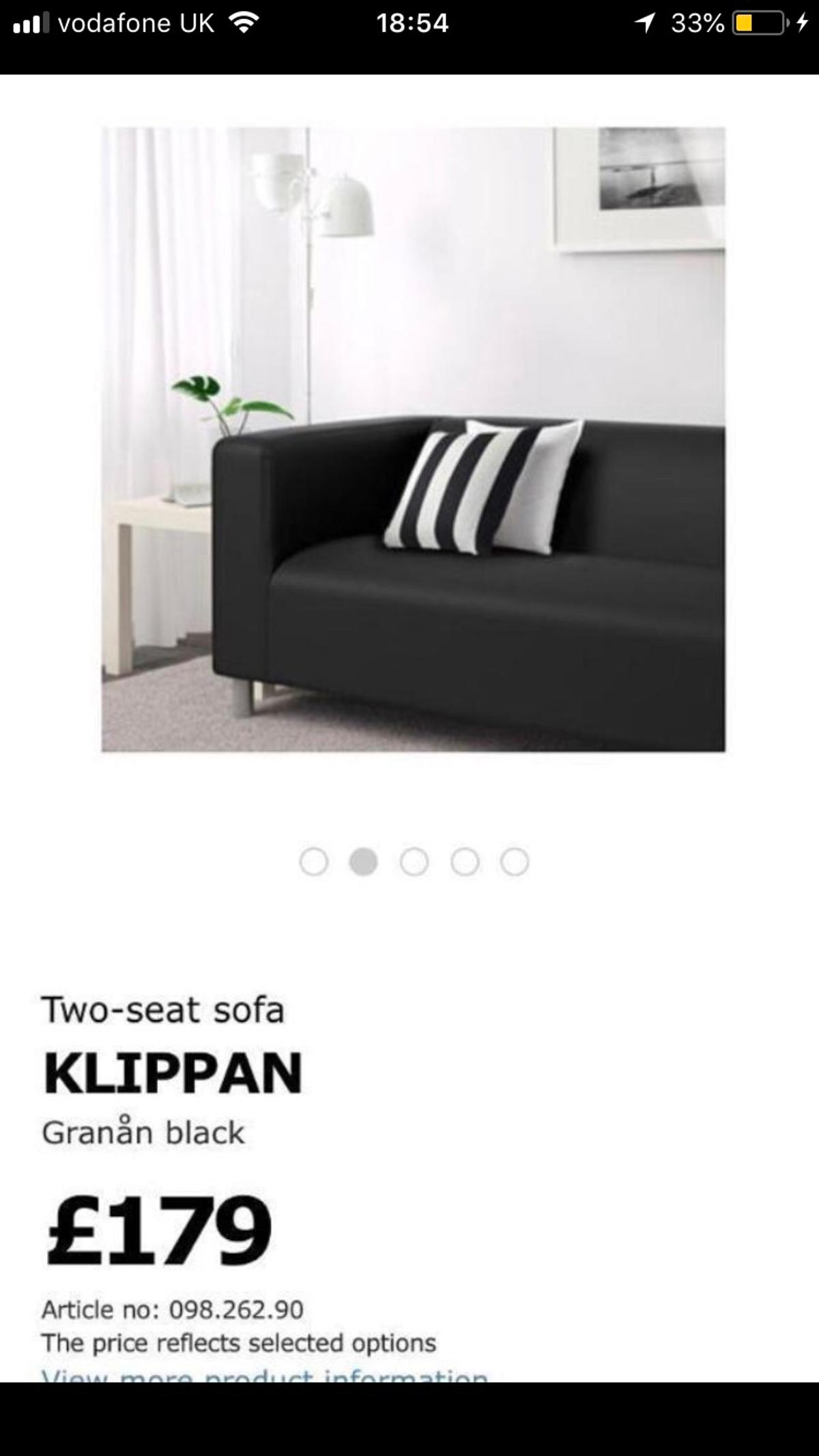 Ikea Klippan Two Seat Fabric Sofa In Cw1 Crewe For 30 00 For Sale Shpock