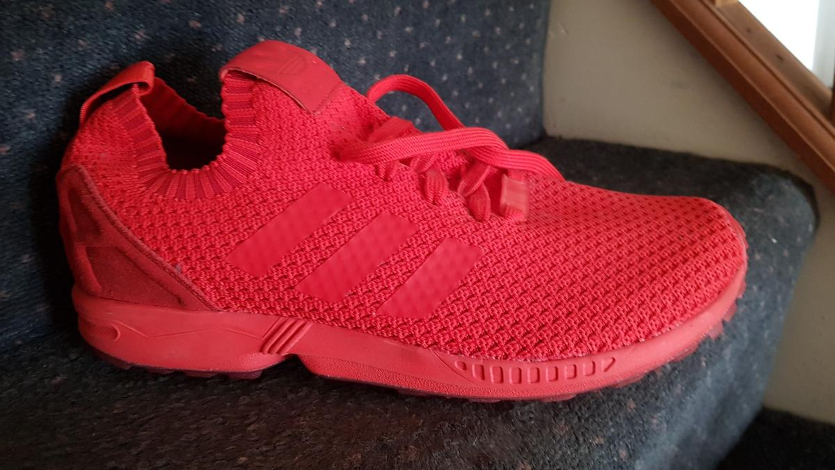 pretty nice b92ee 988d8 Adidas zx flux customised triple red in EN1 Enfield for ...