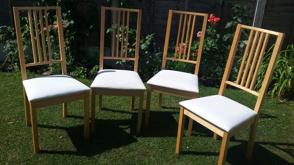 & Ikea BORJE dining chairs in BA14 Trowbridge for £60.00 for sale - Shpock