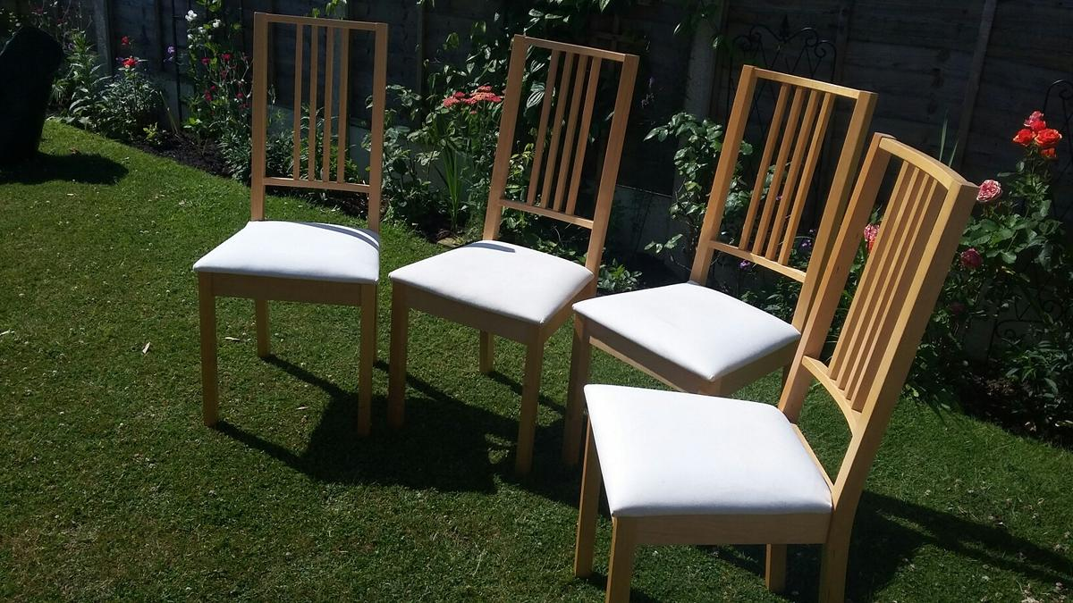 Shpock & Ikea BORJE dining chairs