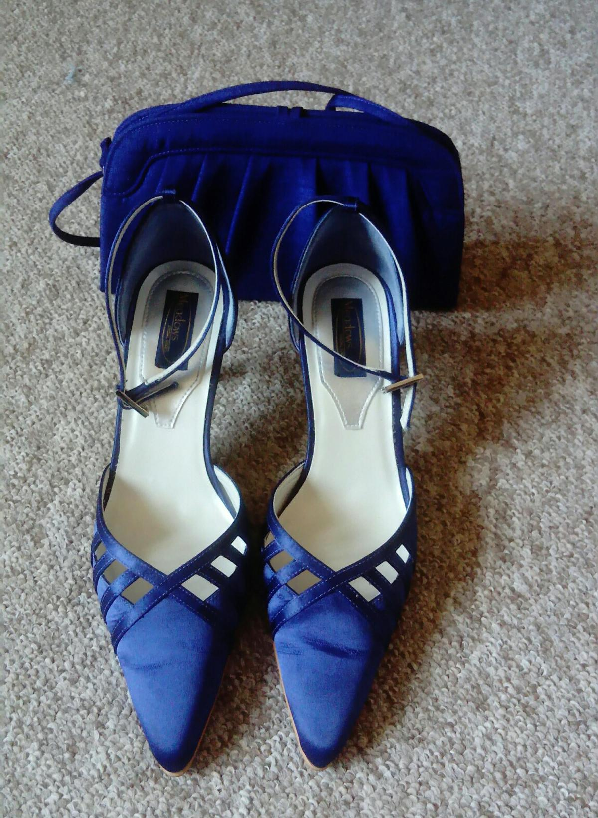 Blue Wedding Shoes.Wedding Shoes And Matching Bag