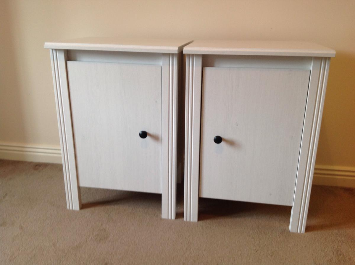 Ikea Brusali Bedside Tables Cupboards X 2 In Sn12 Cleeve For 25 00 For Sale Shpock