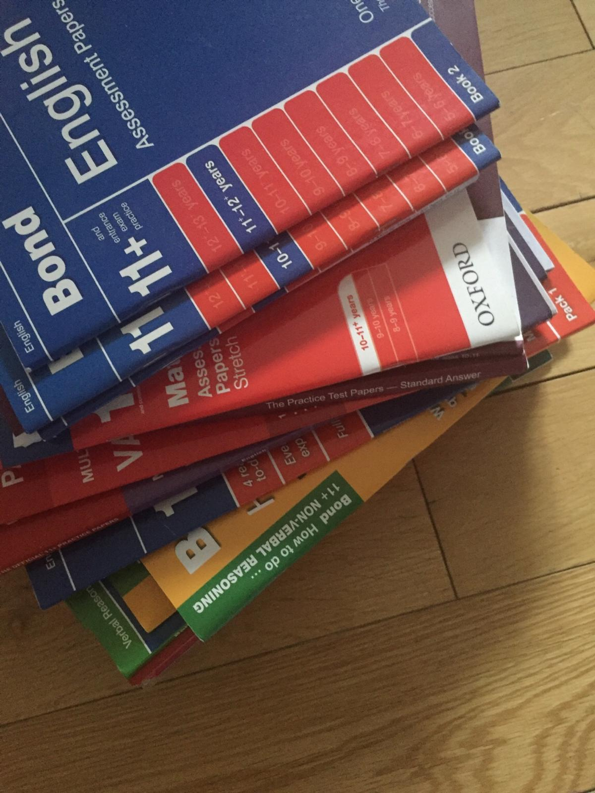 11+ books and test papers