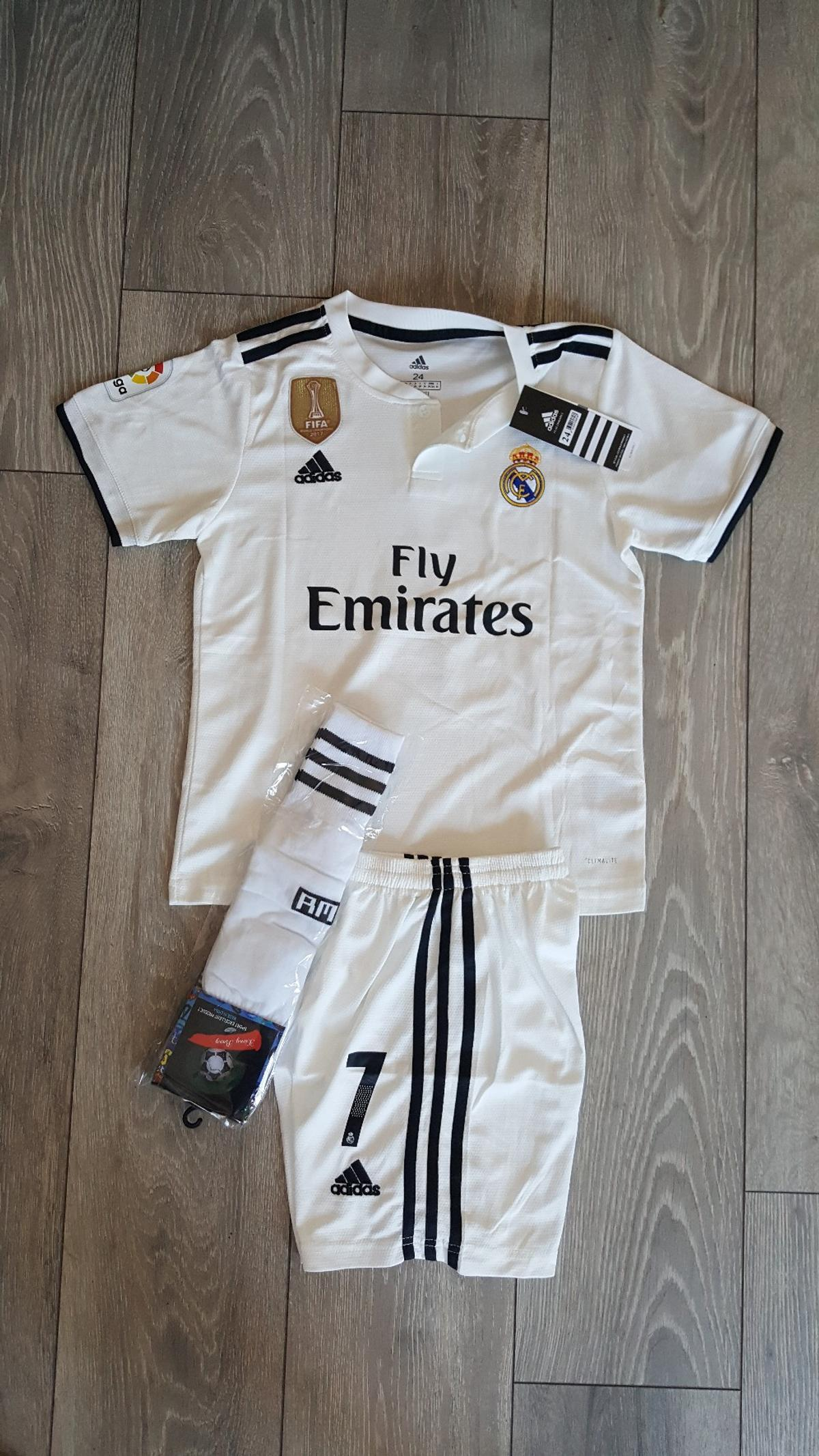 052b0db591b 2018 19 Real madrid football kit 7 13 years in CH42 Wirral for ...