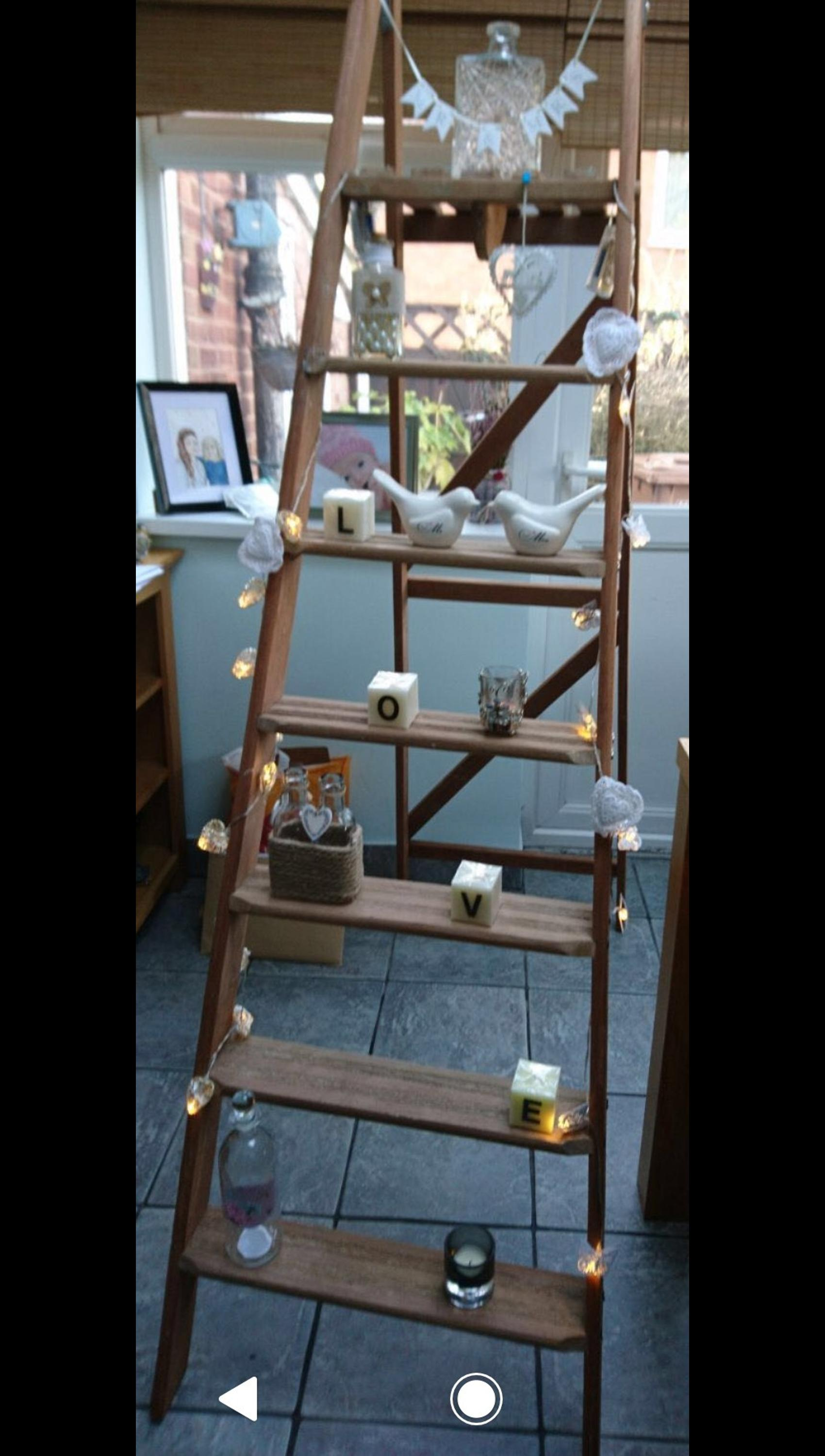 free shipping 88be8 25792 Step ladder for wedding display