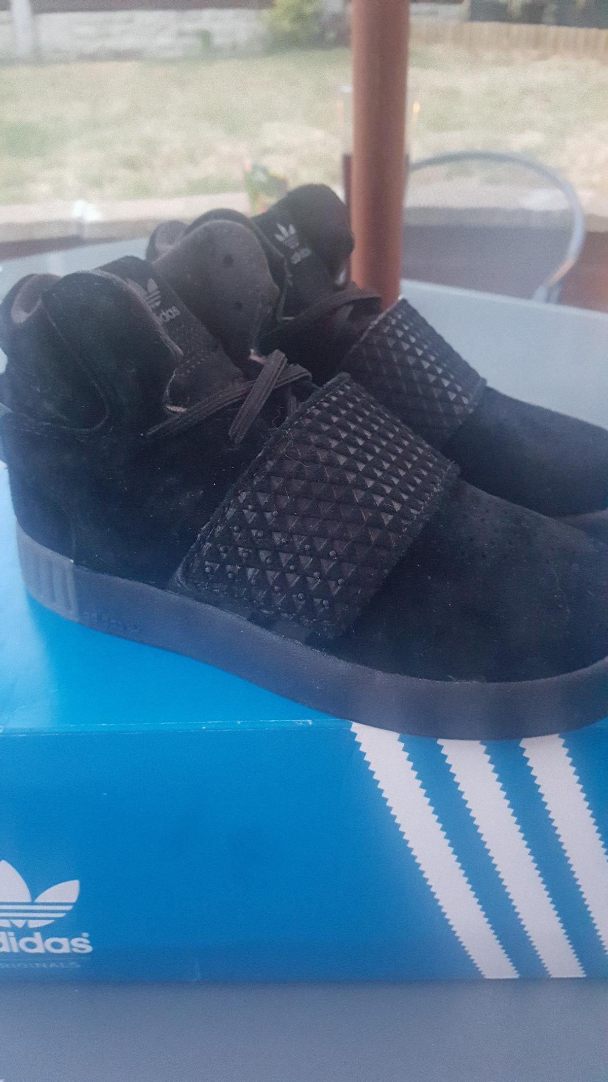 a few days away amazing selection authentic quality adidas tubular invader strap trainers