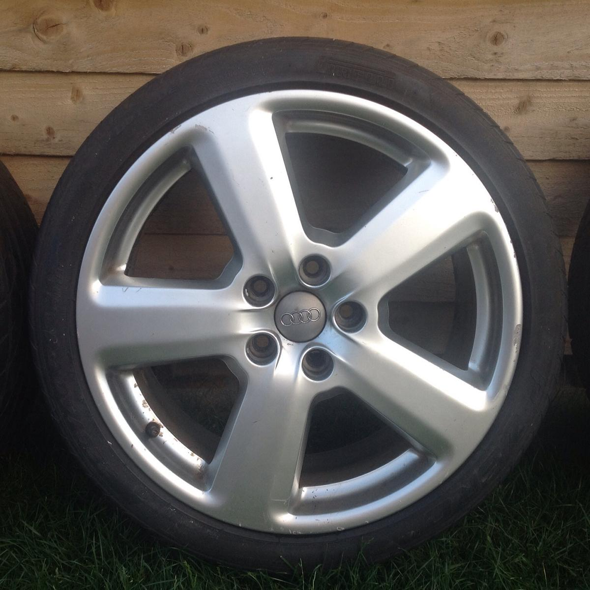 "Audi A4 For Sale Near Me: Genuine Audi A3 / A4 S-Line 18"" Alloy Wheels In Amber"