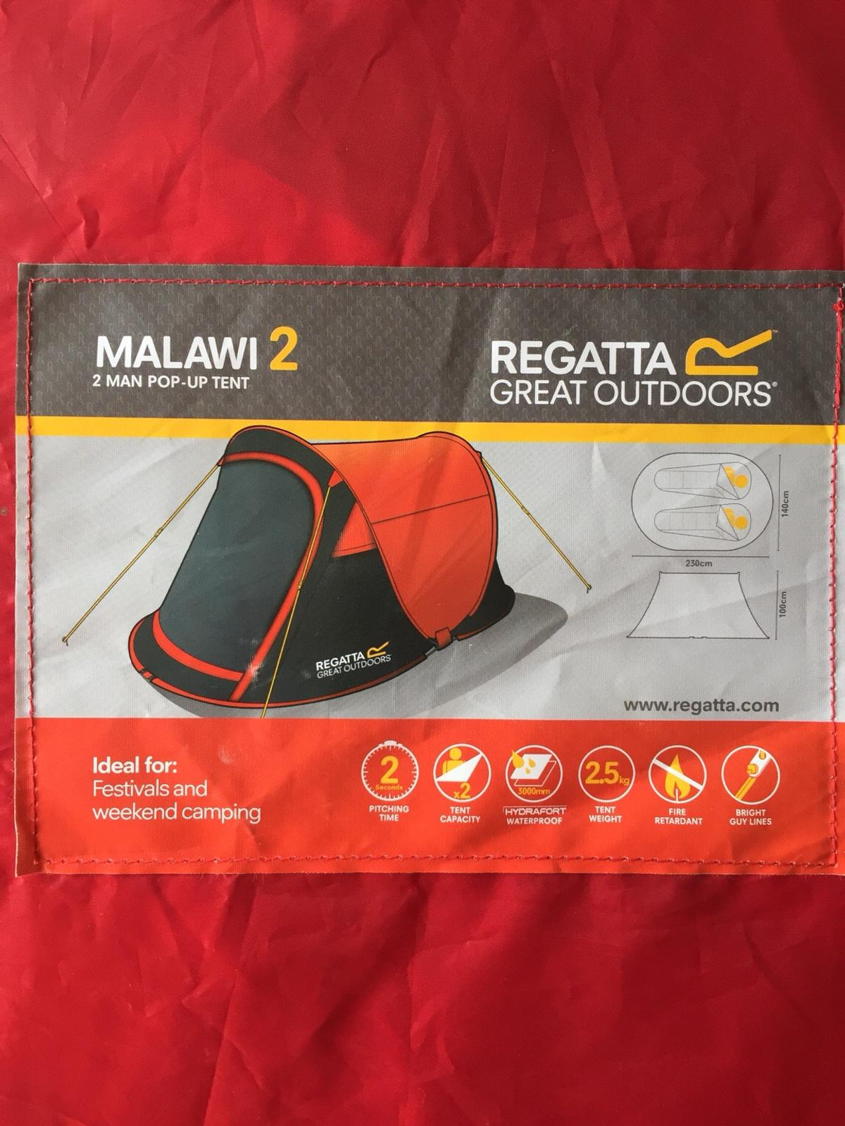 cheaper 8be6e 7b687 REGATTA MALAWI 2 MAN POP UP TENT in Dudley for £25.00 for ...