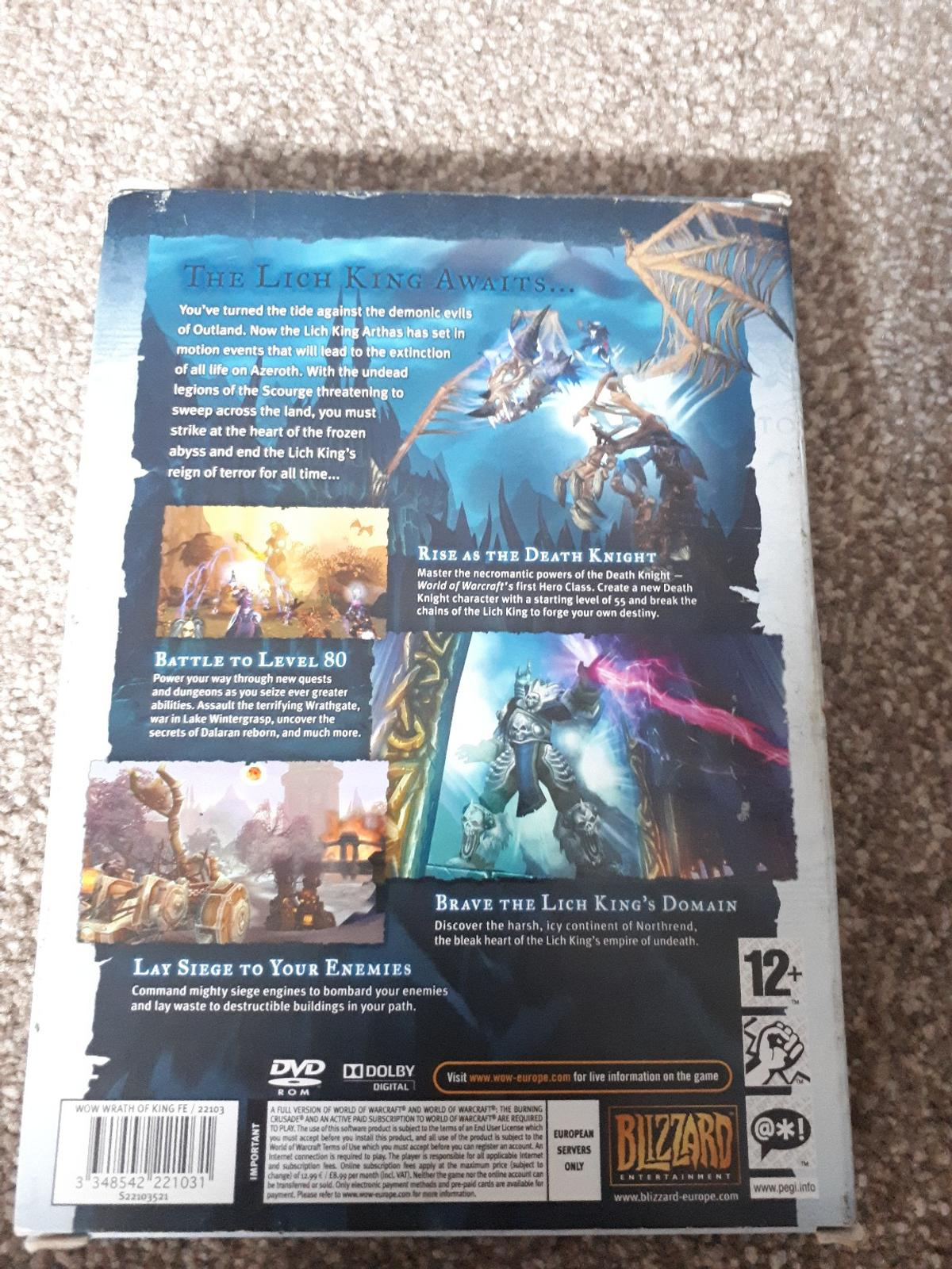 World Of Warcraft pc game in LU1 Luton for £1 00 for sale