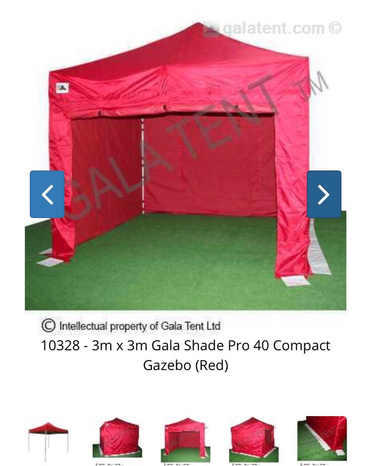 3x3 Gala Tent Professional Pop up Red