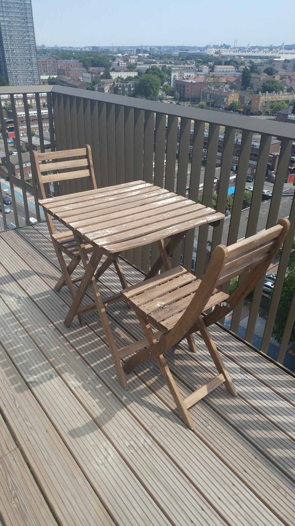 Balcony Table And 2 Chairs Askholmen