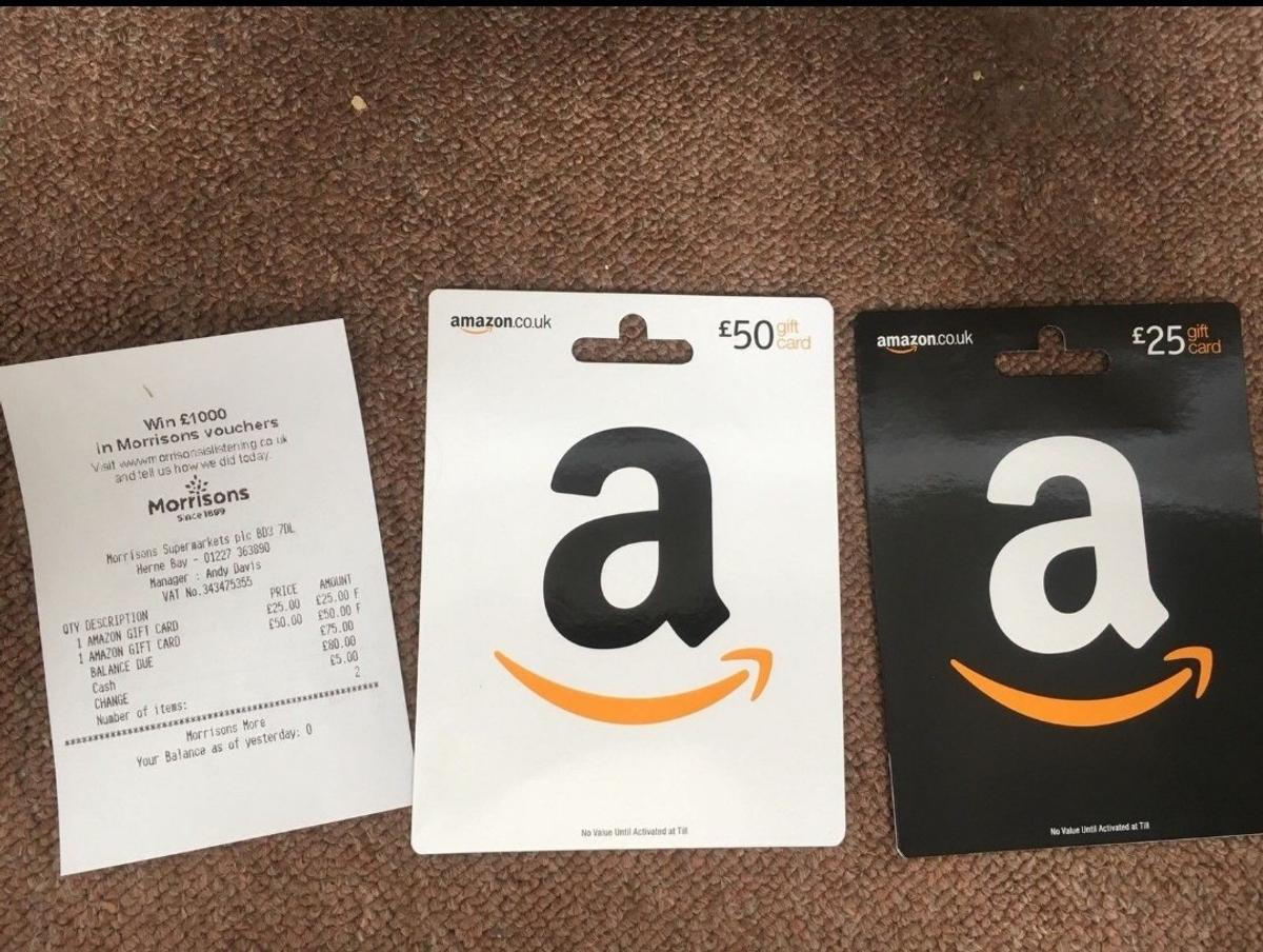 6 Amazon gift cards worth £85.02 each in SE9 London for £ ...
