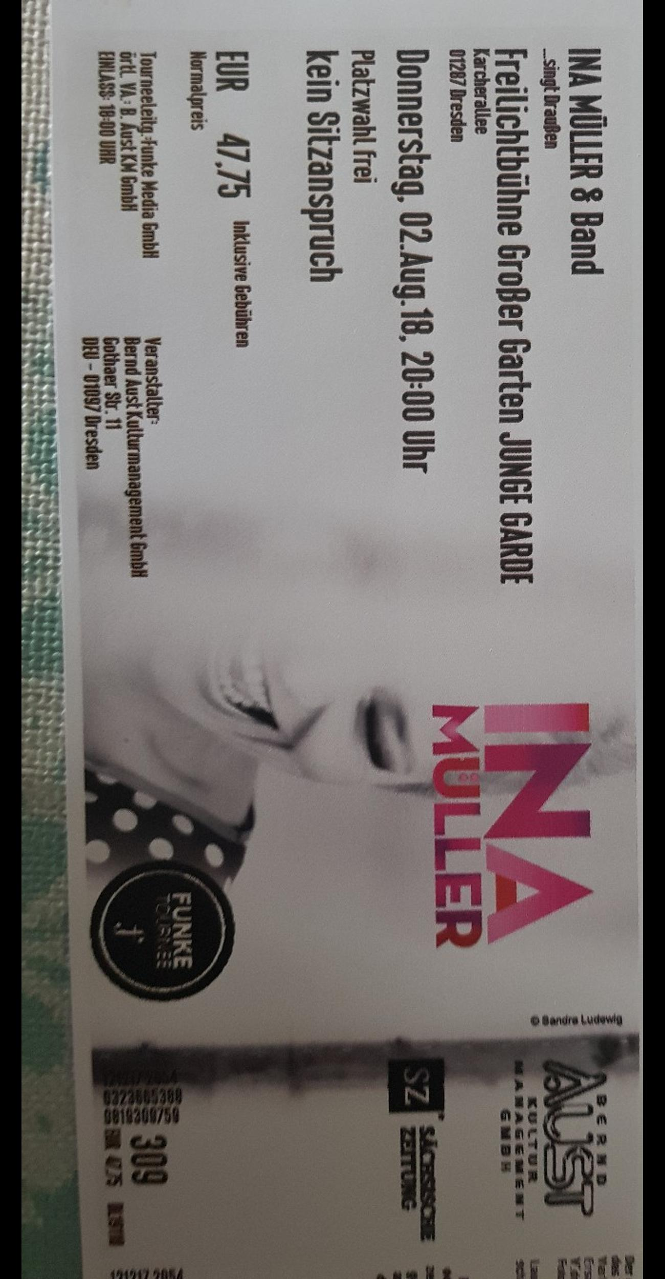 ina müller tickets