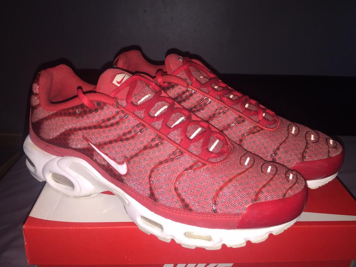 finest selection fe72d 119fe Mens Nike Air Max Plus TXT TN Red/White/Red