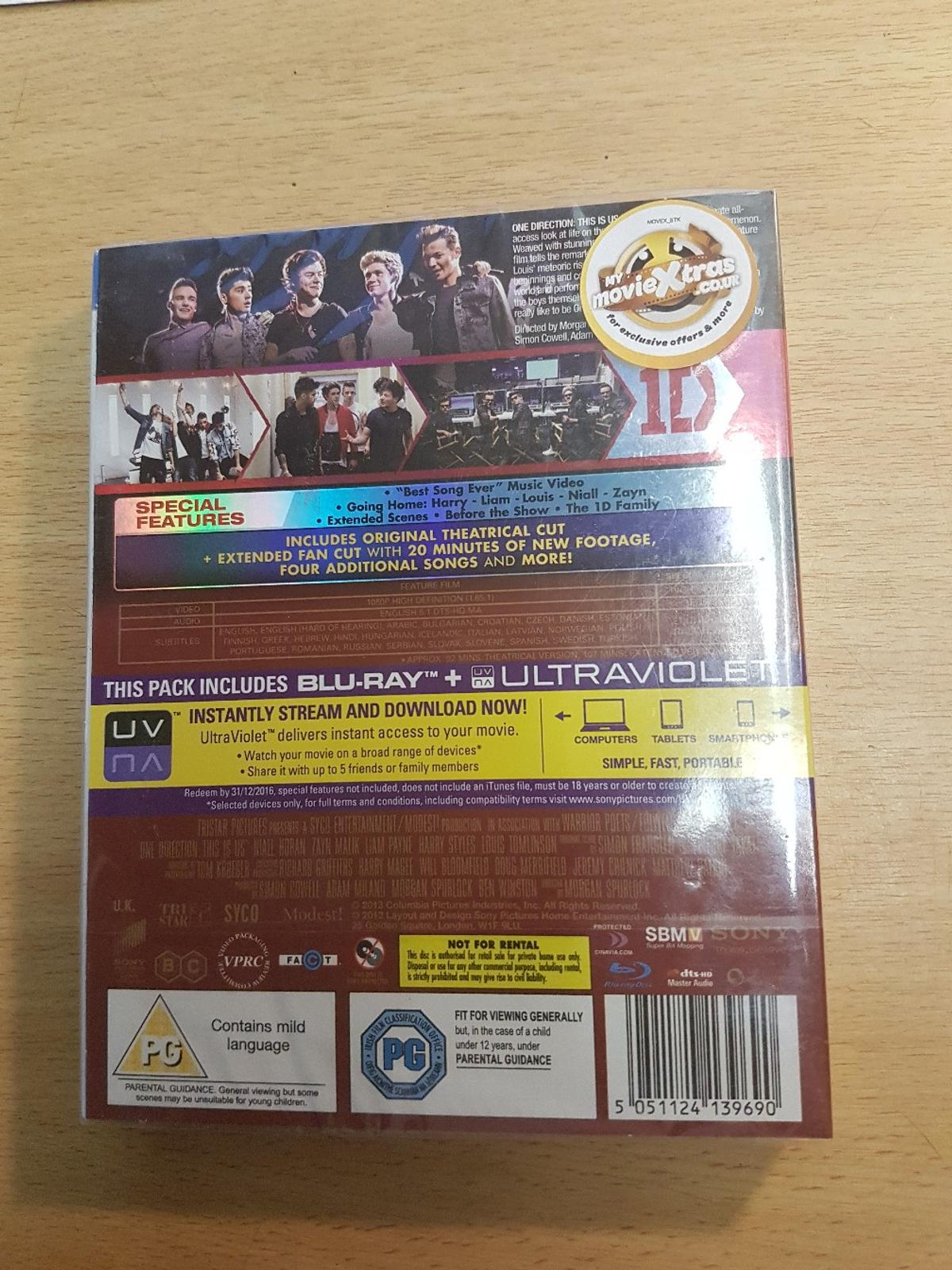 One Direction Blu-Ray Disc in Southend-on-Sea for £4 00 for