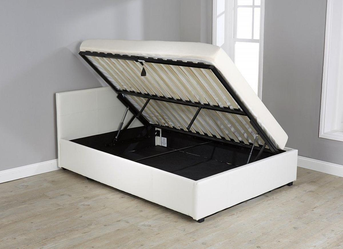 Magnificent New White Side Lift Ottoman Bed Mattress Sm D Pdpeps Interior Chair Design Pdpepsorg