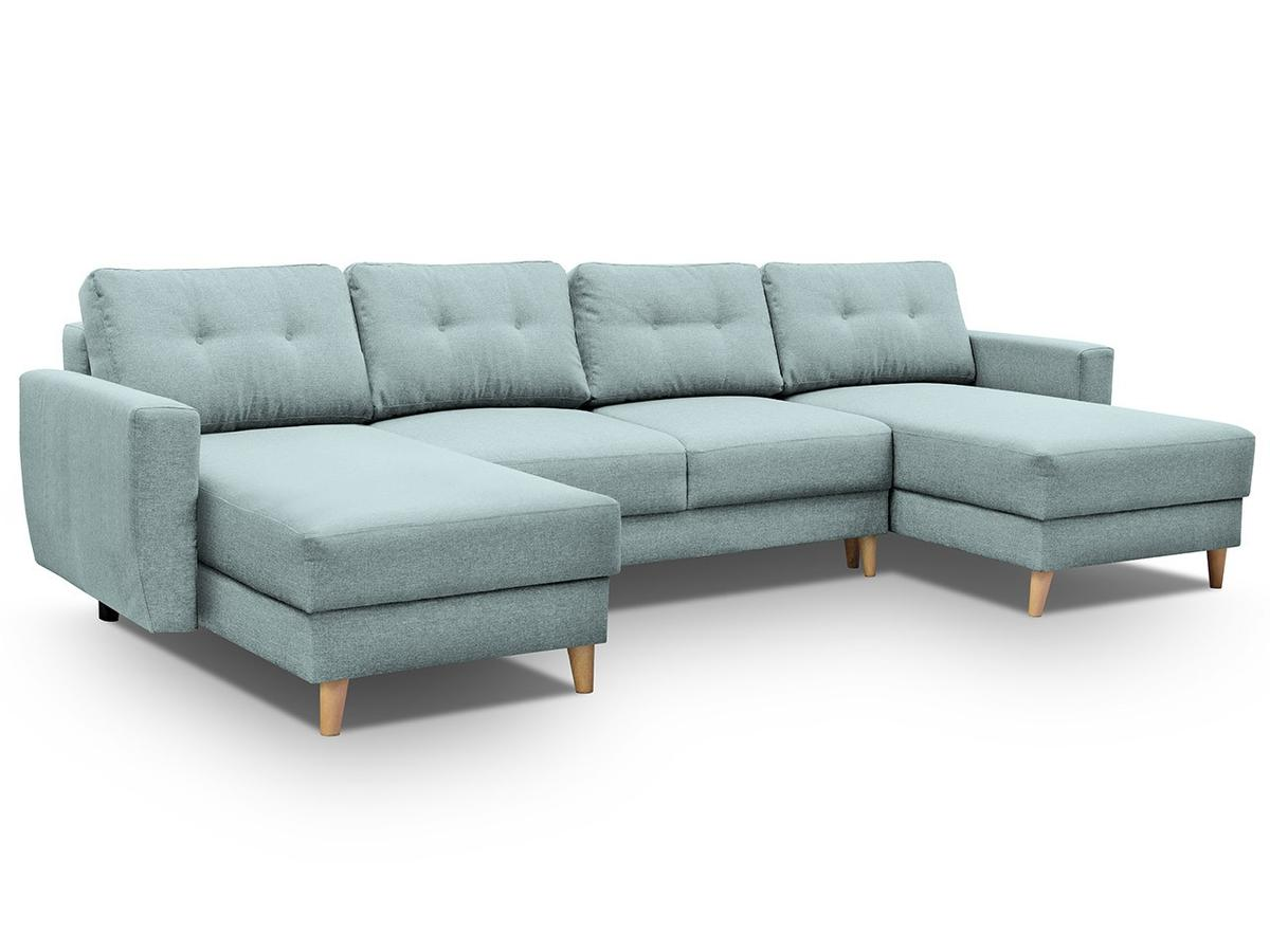 Greish Blue Corner Sofa Bed Free Delivery
