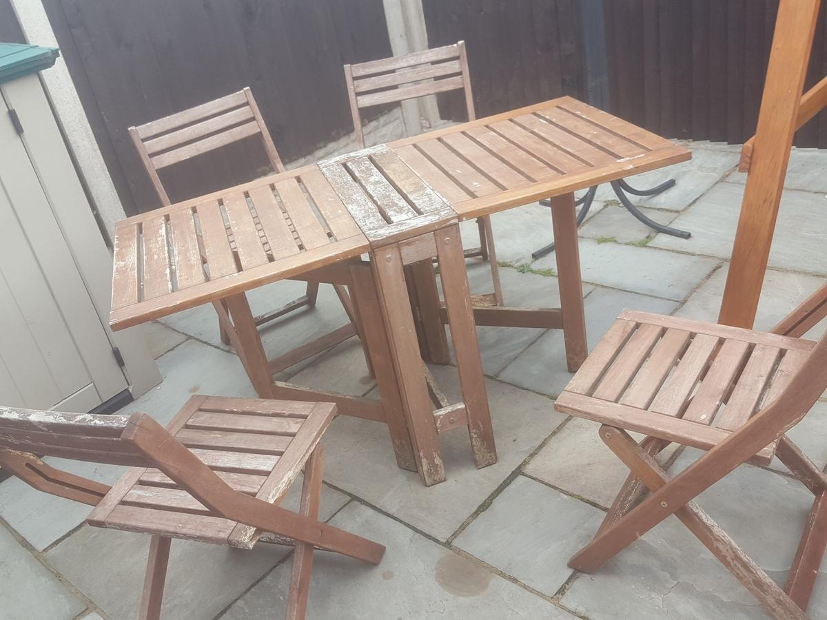 - Wooden Garden Table & Chairs DIY Project In WV14 Dudley For £10.00
