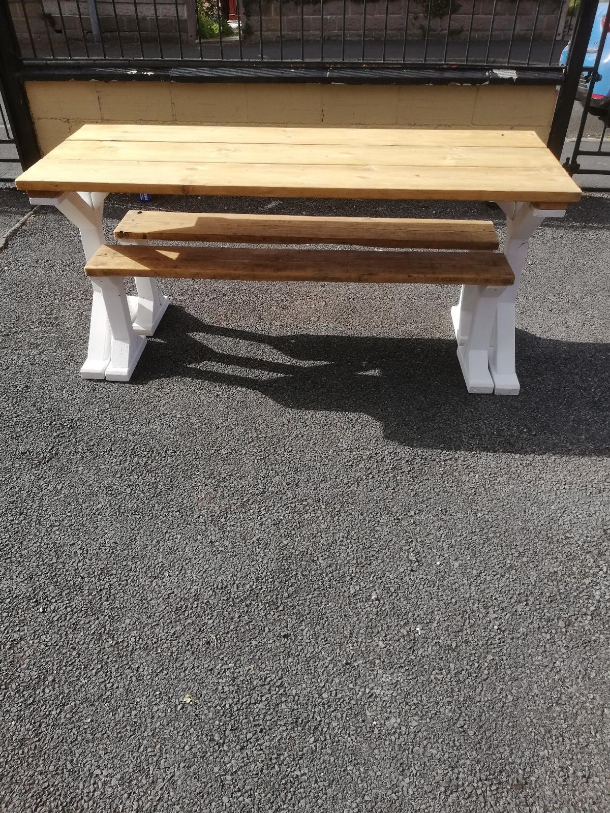 Farmhouse Rustic Dining Table And Bench Se In Stoke On Trent For 200 00 For Sale Shpock