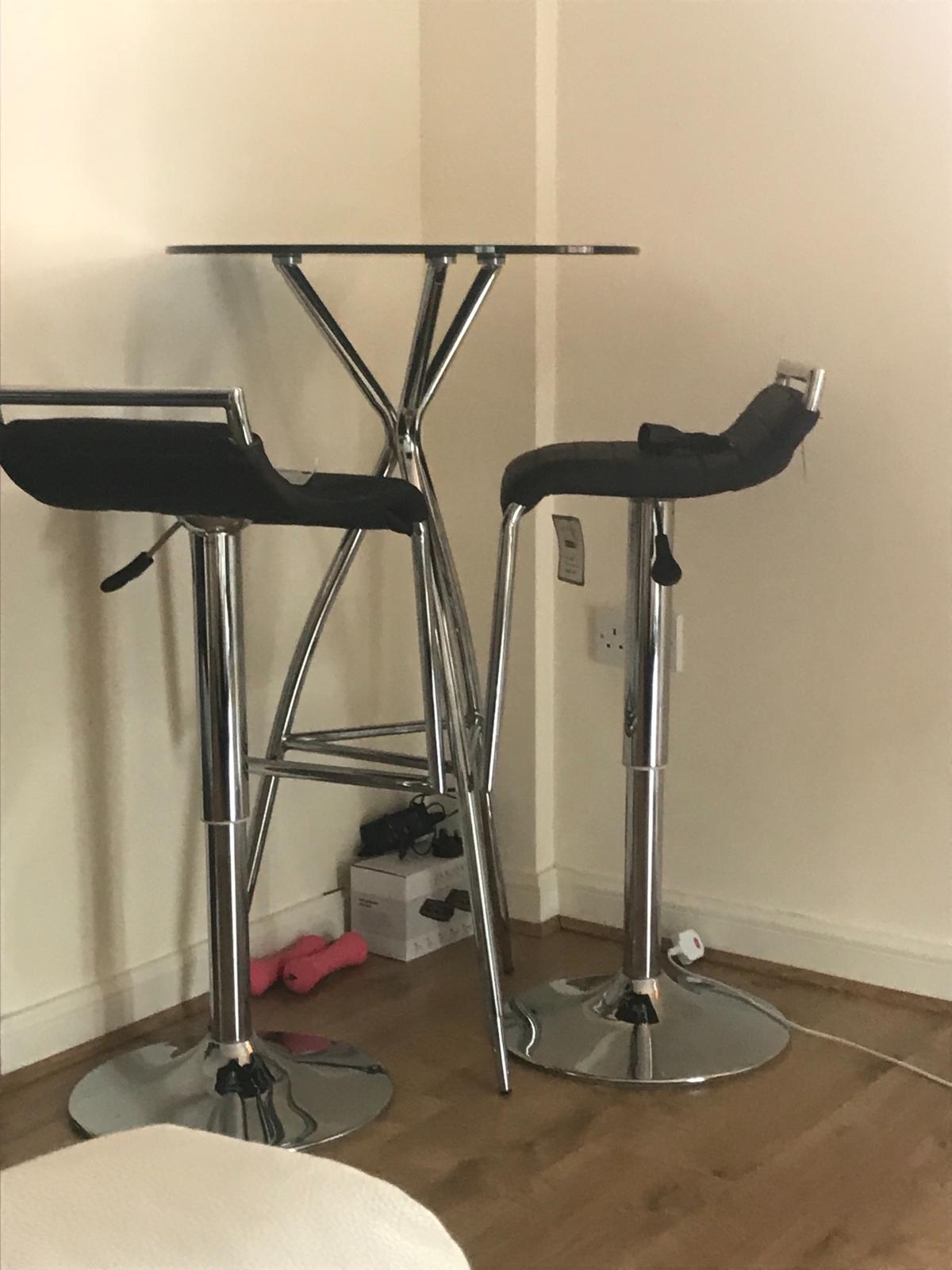 Remarkable Dwell Bar Table And 2 Bar Stools For Sale Forskolin Free Trial Chair Design Images Forskolin Free Trialorg
