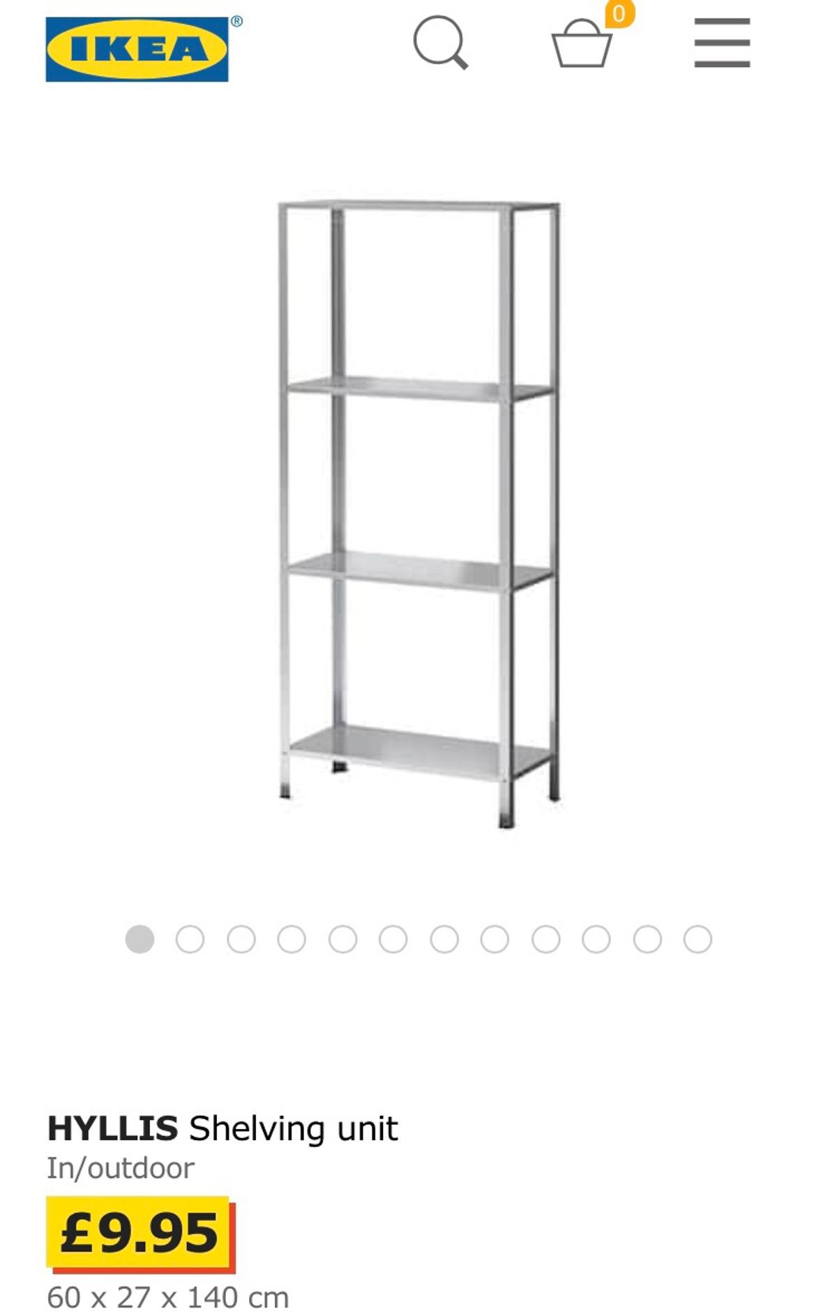 Tremendous Ikea Hyllis Shelving Galvanised In Outdoor Download Free Architecture Designs Scobabritishbridgeorg