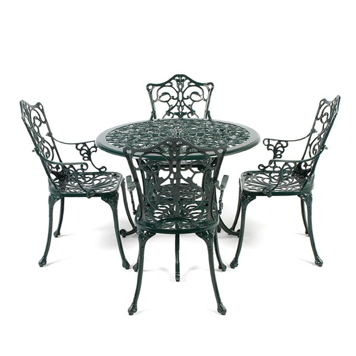 Ornate Cast Iron Patio Table Chairs