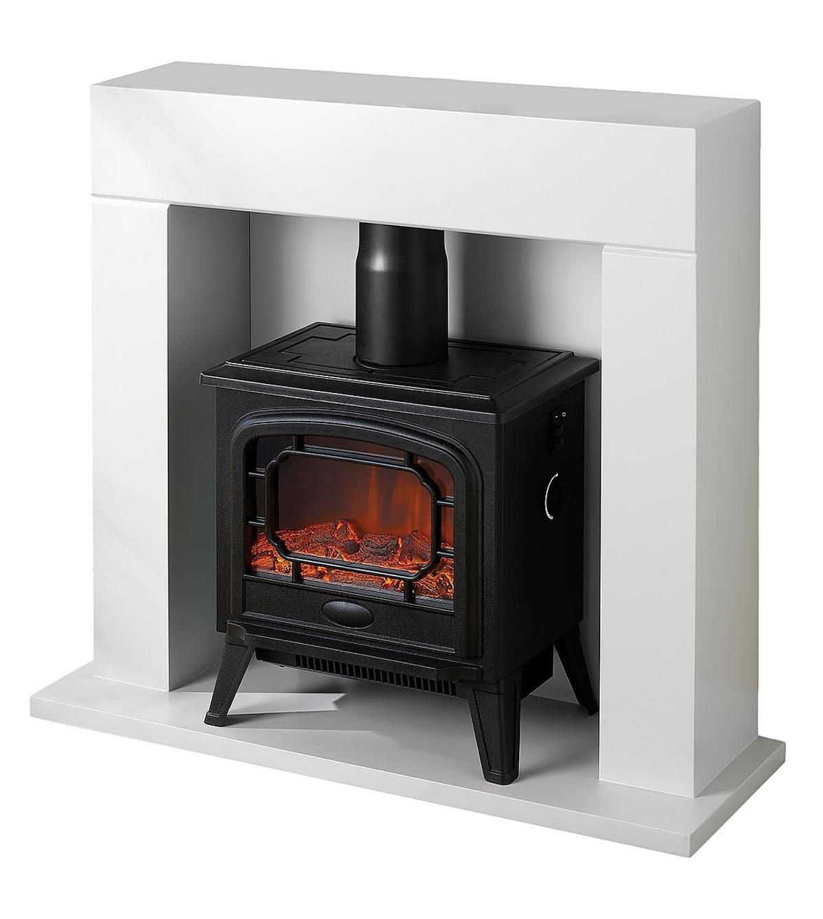 Egl Electric Stove Fireplace Suite White In M350bn Failsworth For