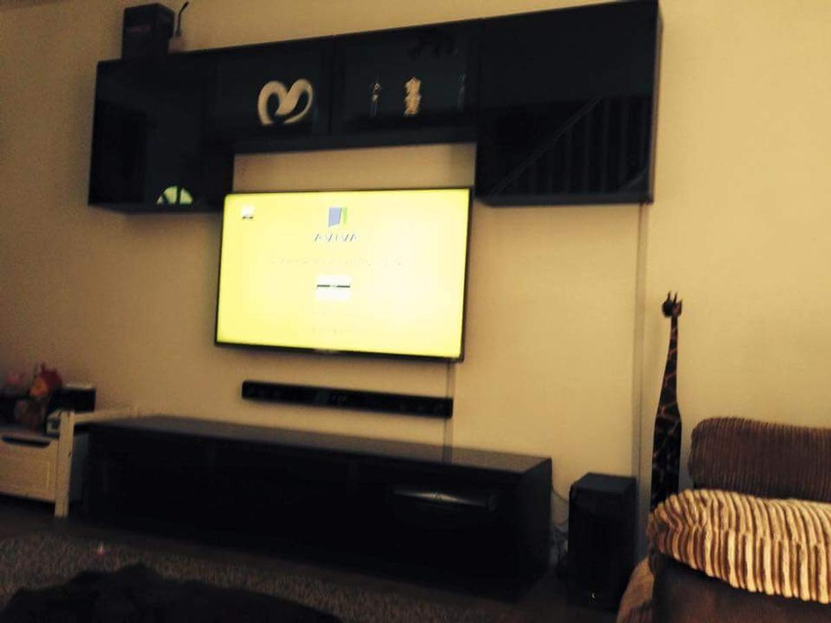 Ikea Besta Tv Unit And Wall Units Black