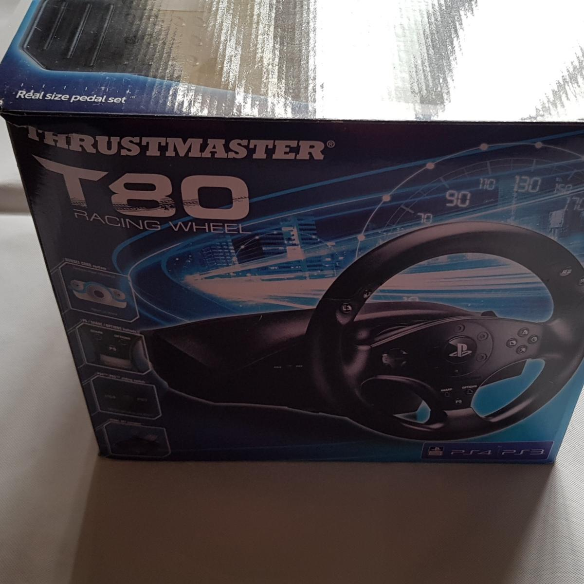 Thrustmaster T80 Racing Wheel for PS3/PS4 in Wolverhampton