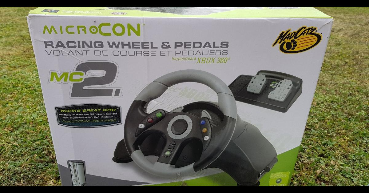 MC2 MicroCon Racing Wheel & Pedals XBox 360 in LE19 Blaby for £8 00