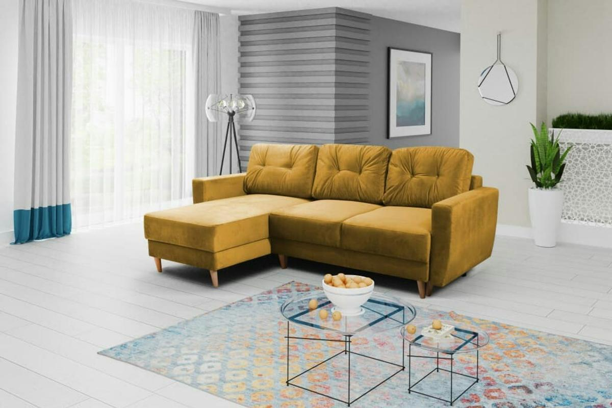 Bed 140 Cm.Mustard Yellow Corner Sofa Bed Free Delivery