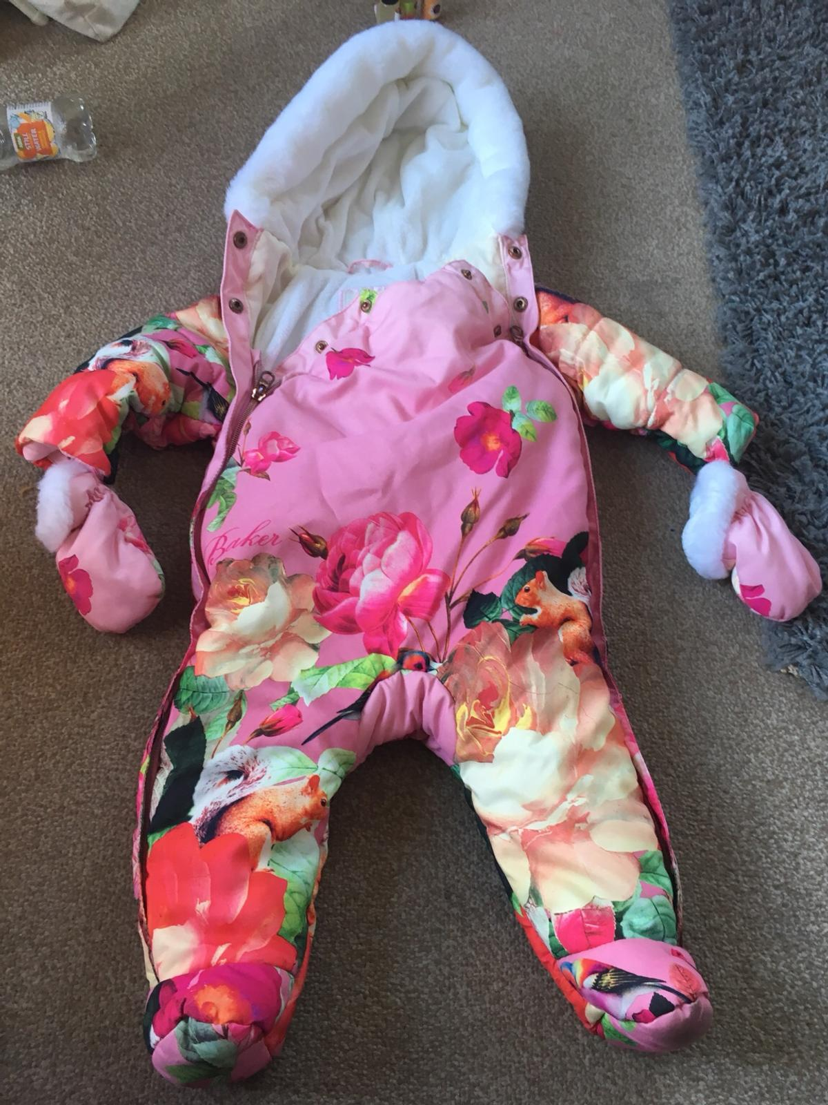 6b853dc2f2a Ted Baker winter snow suit. Pink floral 3-6m in WV14 Wolverhampton ...