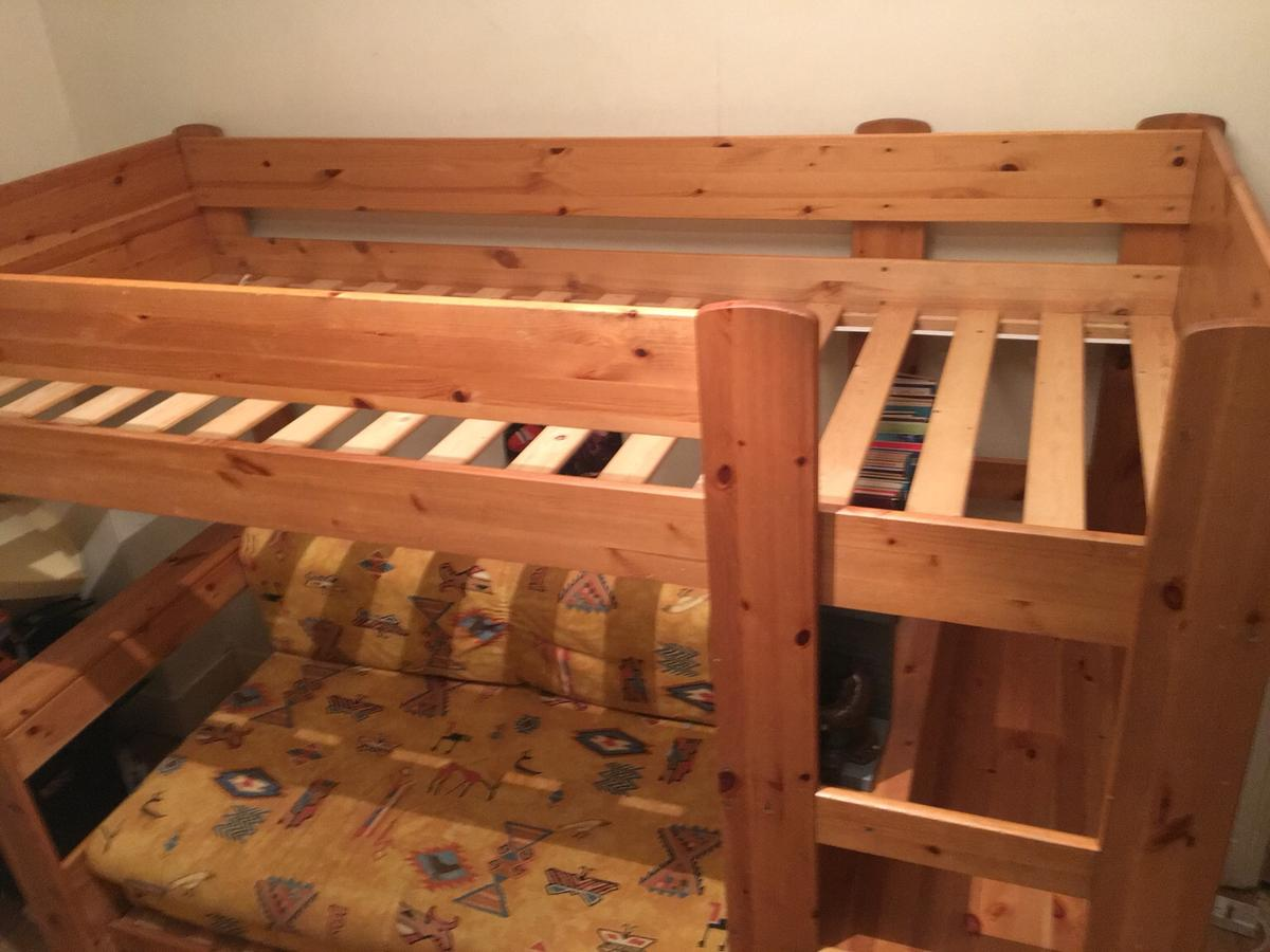 Cabin Bed With Futon Underneath