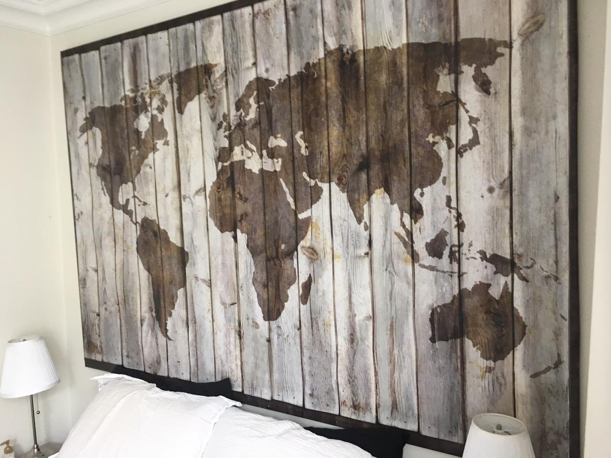 Ikea Bjorksta Driftwood World Map Canvas in SW6 Fulham for ... on crate and barrel world map, carrefour world map, ireland location in world map, bank of america world map, johnson world map, modge podge world map, earth tone world map, kohl's world map, pizza hut world map, grandin road world map, anthropologie world map, public-domain vintage world map, the church of lds missions world map, hp world map, pepsi world map, philips world map, barnes & noble world map, sotheby's world map, craigslist world map, dunkin donuts world map,