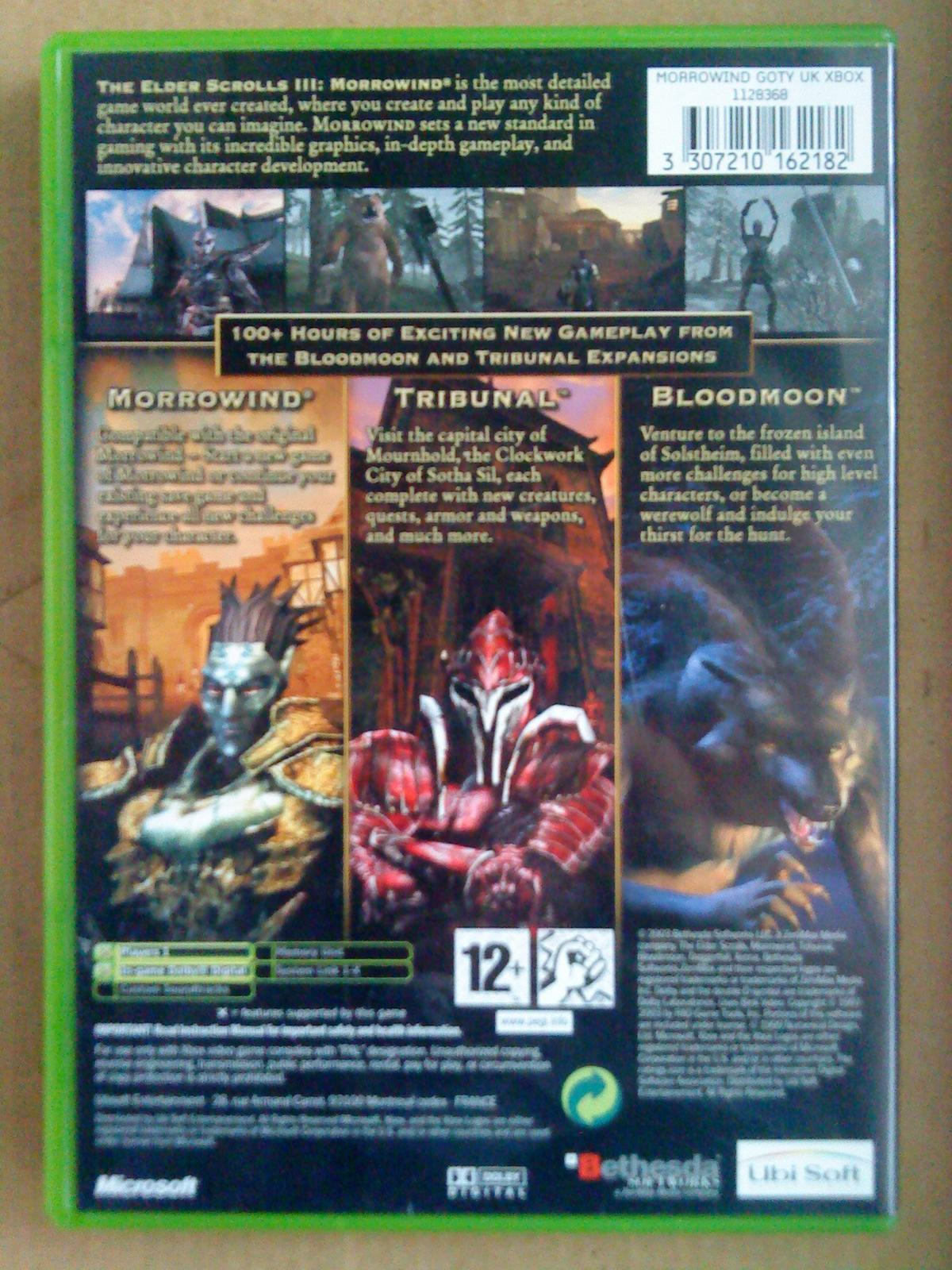 XBOX Morrowind Game of The Year Edition PAL in 66034