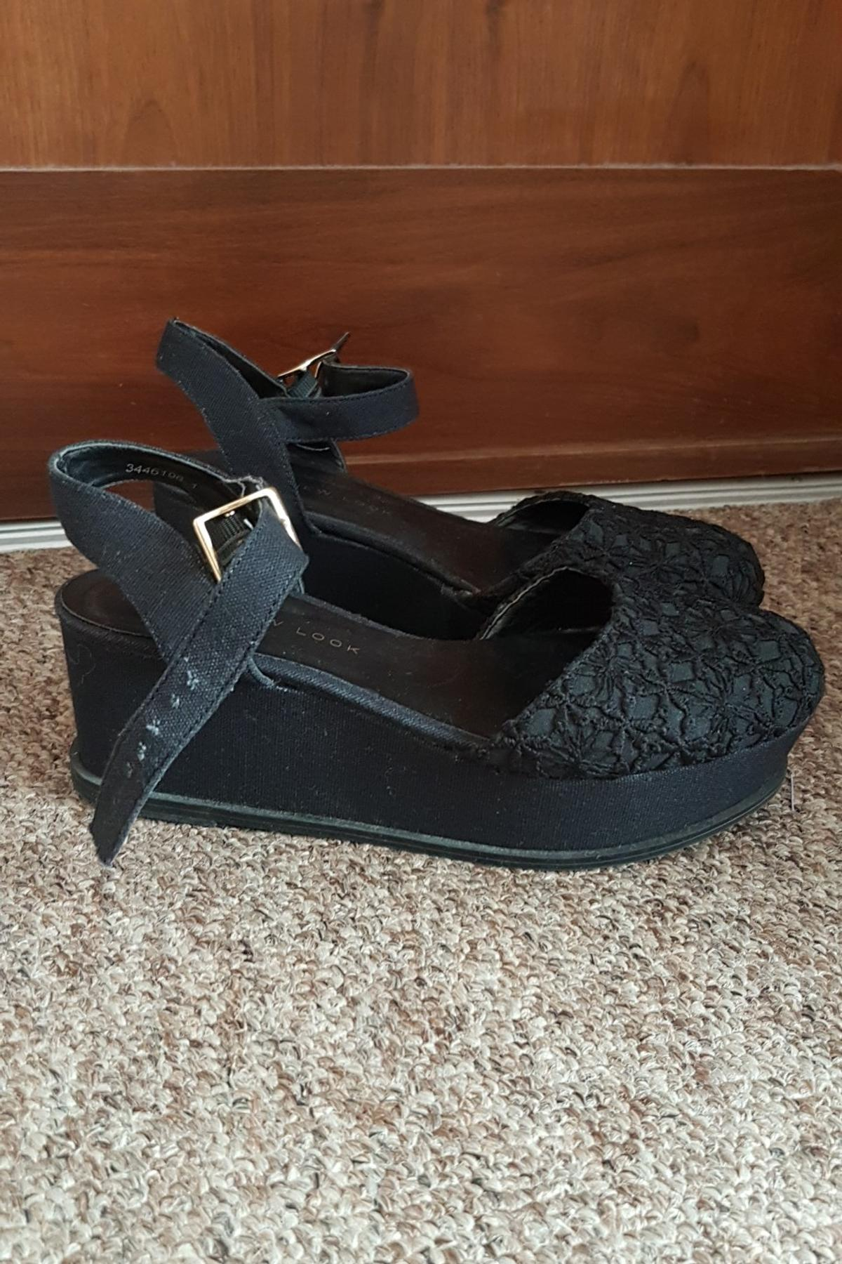 Bootsamp; Look Brent New Sandals Nw10 £25 Wedge In 00 3 For Size IbyY6gvf7