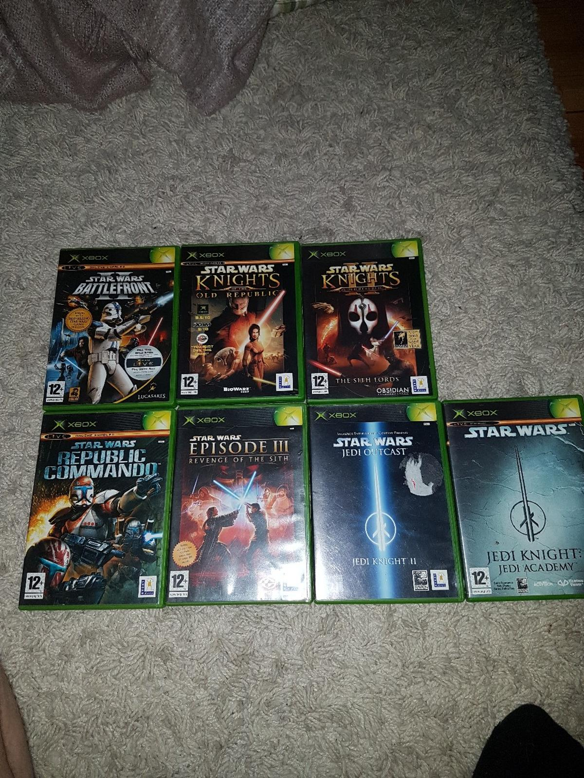 Original xbox Star Wars games collection